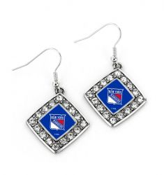 RANGERS CRYSTAL DIAMOND EARRINGS