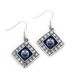 OILERS CRYSTAL DIAMOND EARRINGS