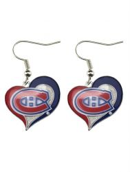 CANADIENS SWIRL HEART EARRINGS