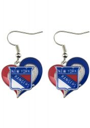 RANGERS SWIRL HEART EARRINGS