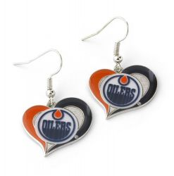 OILERS SWIRL HEART EARRINGS