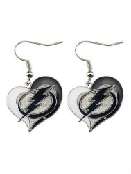 LIGHTNING SWIRL HEART EARRINGS