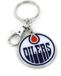 OILERS TEAM LOGO HEAVYWEIGHT KEYCHAIN