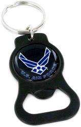 US AIR FORCE  BLACK BOTTLE OPENER KEYTAG