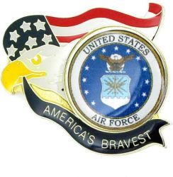 AMERICA'S BRAVEST AIR FORCE PIN