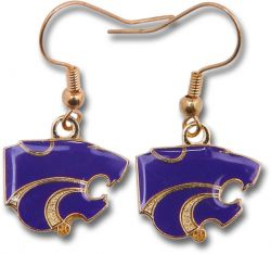 KANSAS STATE COLLEGE DANGLER EARRINGS