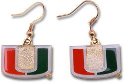 MIAMI COLLEGE DANGLER EARRINGS