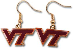 VIRGINIA TECH DANGLER EARRINGS