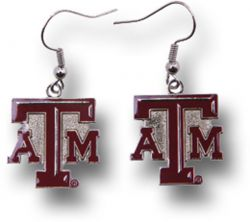 TEXAS A&M COLLEGE DANGLER EARRINGS