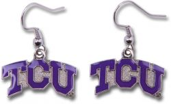 TCU DANGLER EARRINGS
