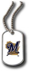 BREWERS DOMED DOG TAG