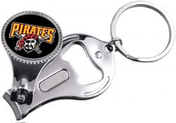 PIRATES NAIL CLIPPER/BOTTLE OPENER KEYCHAIN