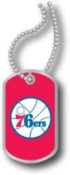 76ERS DOMED DOG TAG