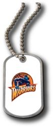 WARRIORS DOMED DOG TAG