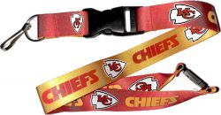 CHIEFS (GOLD/RED) REVERSIBLE LANYARD