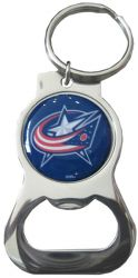 BLUE JACKETS BOTTLE OPENER KEYCHAIN PRIM. LOGO